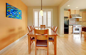 Kitchen Dining Room Light Wood Flooring