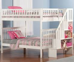 Woodland Full over Full Stair Bunk Bed AB