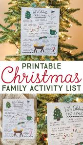 Enjoy The Season And Create Memories With This FREE Printable Christmas Family Activity List