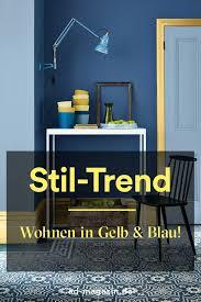 gelb blau die stil trends gelbes wohnzimmer blau gelb