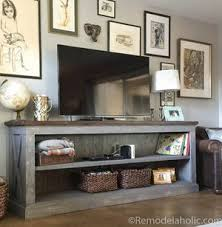 Farmhouse Style TV Console By Remodelaholic