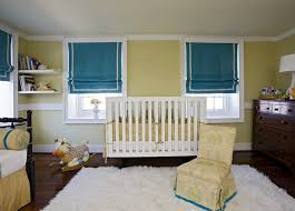 Yellow And White Curtains For Nursery by Blue Nursery Walls Design Ideas