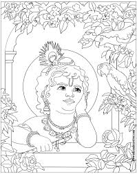 Krishna Coloring Pages Printable With Of