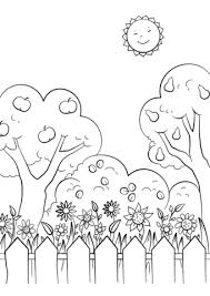 Click To See Printable Version Of Beautiful Garden Coloring Page