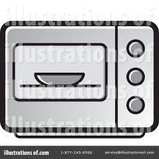 Royalty Free RF Microwave Clipart Illustration by Lal Perera