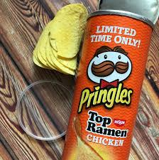 Pumpkin Spice Pringles 2017 by Nissin Top Ramen Pringles Review Snack Gator