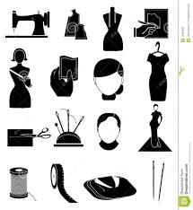 Tailor Fashion Designer Icons Set Illustration 49483225