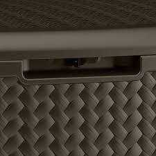 Suncast 195 Gallon Deck Box Manual by Suncast Resin 124 Gal Deck Box Java Bj U0027s Wholesale Club