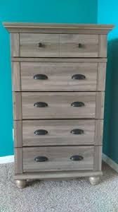 Sauder Harbor View Dresser Salt Oak by Sauder Harbor View 5 Drawer Chest Multiple Finishes Walmart Com