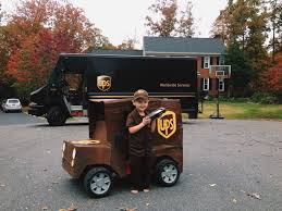 Turned His Power Wheels Jeep Into A UPS Truck For Halloween ...