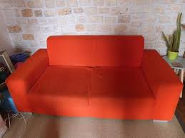 joli canapé troc echange joli canapé 2 3 places orange trocvestiaire