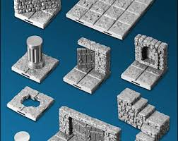 3d Printed Dungeon Tiles by 50 Piece Dungeon Tile Set For D U0026d Pathfinder Up To 133 Sq Ft