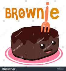 Brownie clipart cute cartoon Pencil and in color brownie clipart