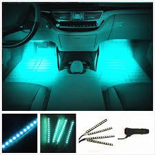 100 Led Interior Lights For Trucks CyberTech Car LED Strip Light 4pcs 72 LED DC 12V Multicolor Music