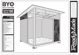 relaxshacks com shed plans for the md100 modern shed guest house