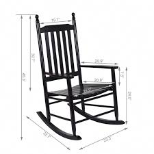 100 Rocking Chair With Pouf Wooden Balcony Deck Garden Porch Armchair
