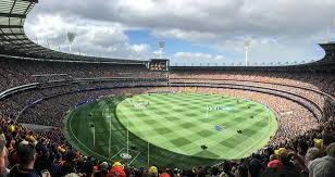 2017 AFL Grand Final Panorama During National Anthem