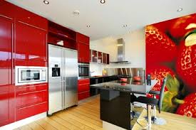 Modern Red Kitchen Tiles Smith Design Barn Decor Image Of Vintage Plastic Access Large