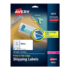 Avery Print To The Edge Permanent Laser Shipping Labels 6873 2 X 3 34 White Pack Of 200 By Office Depot OfficeMax