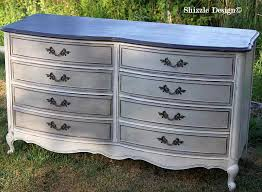 French Provencial Dresser Painted Taupe White Chalk Clay Paints Shizzle Design Furniture Ideas