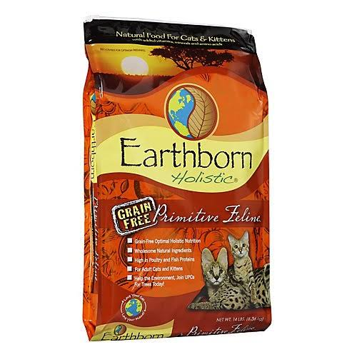 Earthborn Holistic Natural Grain-Free Dry Cat Food - Turkey, 14 lb