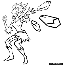 Ice Cold Girl Coloring Page
