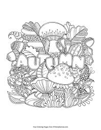 Fall Coloring Page Autumn