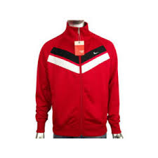 Mens Nike Retro Red Polyester Vintage Track Suit Top Sports Jacket Size S