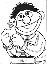 Sesame Street Ernie Coloring Pages