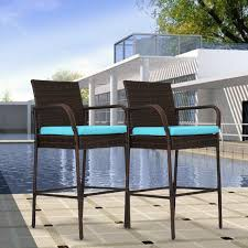 Set Of 2 Wicker Barstool High Chair Bar Patio Outdoor Pool Blue Cushions Chair Overstock Patio Fniture Adirondack High Chairs With Table Grand Terrace Sling Swivel Rocker Lounge Trends Details About 2pcs Rattan Bar Stool Ding Counter Portable Garden Outdoor Rocking Lovely Back Quality Cast Alinum Oval And Buy Tables Chairsding Chairsgarden Outside Top 2 Pcs Set Household Appliances Cool Full Size Bar Stools