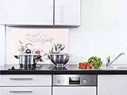 grazdesign glas küchenrückwand spritzschutz küche hier wird