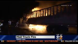 100 Postal Truck Fire US Catches In Cali Burns Up 120000 Letters