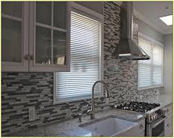 grey glass mosaic tile backsplash home design ideas