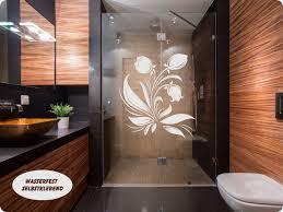 dusche aufkleber glasdekor blumenornament gd41