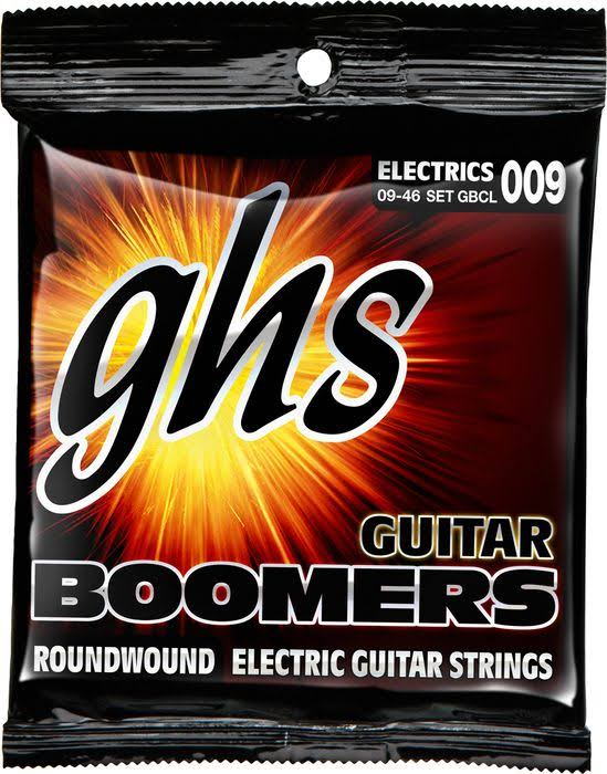 GHS GBCL Boomers Custom Light Electric Guitar Strings - 009