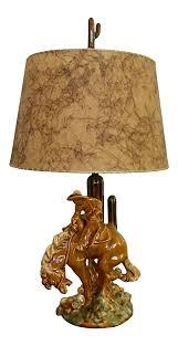 Haeger Pottery Lamps Vintage by 1940s Vintage Cowboy U0026 Horse Lamp Chairish