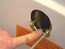 designs enchanting bathtub overflow drain plug 149 innovator
