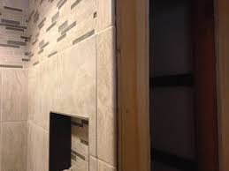 my shower tile goes past the drywall on an outside corner home