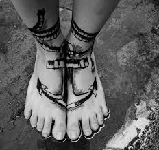 A Strong Tattoo In Terms Of Both Striking Appearance And Foundation The Anchor With Each Half Portion Drawn On Either Foot Once Connected As One