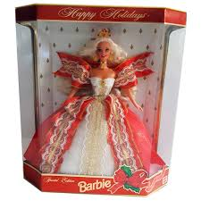 Amazoncom Barbie 1997 Happy Holidays Doll Special Edition Blonde