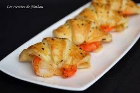 recette de croissants feuilletés aux gambas marinés la recette