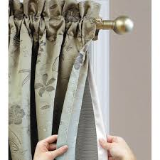 thermalogic rod pocket curtain liner curtains thermalogic ultimate liner blackout liner blackout