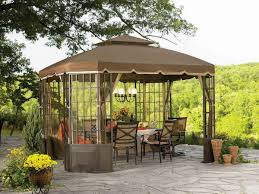2 Backyard Canopy Ideas On Keep Cool With These Five Patio Shade ... Outsunny 11 Round Outdoor Patio Party Gazebo Canopy W Curtains 3 Person Daybed Swing Tan Stationary Canopies Kreiders Canvas Service Inc Lowes Tents Backyard Amazon Clotheshopsus Ideas Magnificent Porch Deck Awnings And 100 Awning Covers S Door Add A Room Fniture Shade Incredible 22 On Gazebos Smart Inspiration Tent Home And More Llc For Front Cool Wood