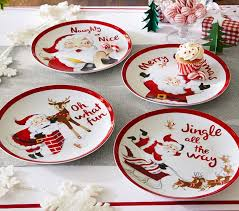 Santa Ceramic Plate Set