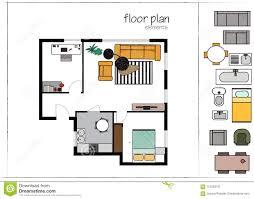100 Modern Design Floor Plans Interior Plan Vector Illustration