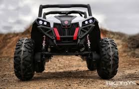 100 Monster Truck Power Wheels 4x4 Power Wheel UTV With Rubber Tires In White