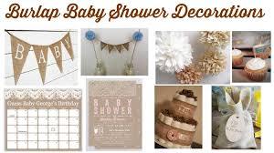 Burlap Baby Shower Decorations Rustic Chic Invitation