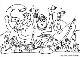 Barbapapas Art Music Themed Colouring Pages