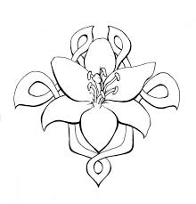 Flower Tattoo Swirlys With Springtime Tentacles Celtic Lilly Tatoo Design Flo