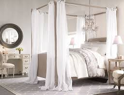 Interior Design White Four Poster Double Bed